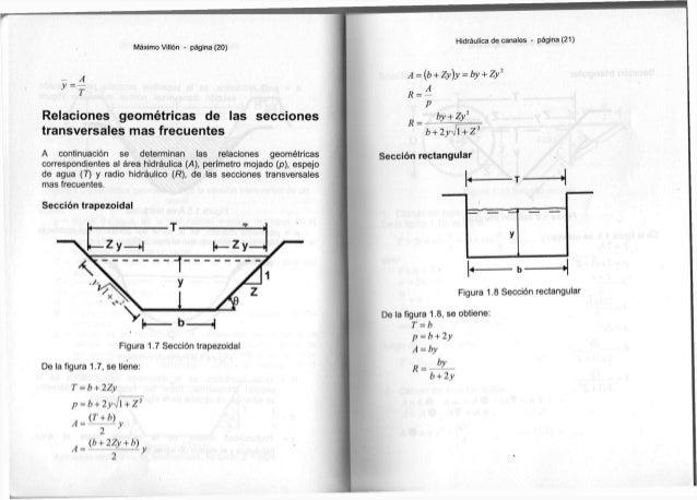Máximo Villón - página ( 2 0 ) - A R e l a c i o n e s geométricas d e l a s s e c c i o n e s t r a n s v e r s a l e s m...
