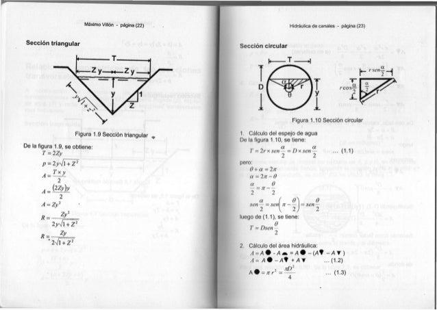 Máximo Villón - página ( 2 2 ) Sección t r i a n g u l a r F i g u r a 1.9 Sección t r i a n g u l a r D e la f i g u r a ...