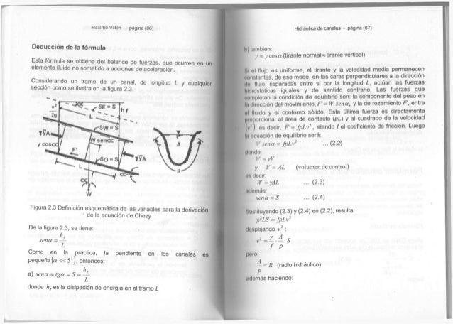 Máximo Villón - página (66) Deducción d e l a fórmula E s t a fórmula s e o b t i e n e d e l b a l a n c e d e f u e r z ...