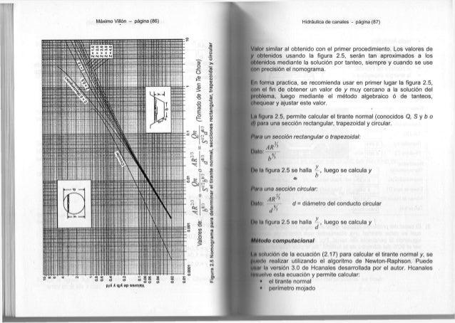 Máximo Villón - página ( 8 6 ) Hidráulica d e c a n a l e s - página ( 8 7 ) V a l o r s i m i l a r al o b t e n i d o c ...