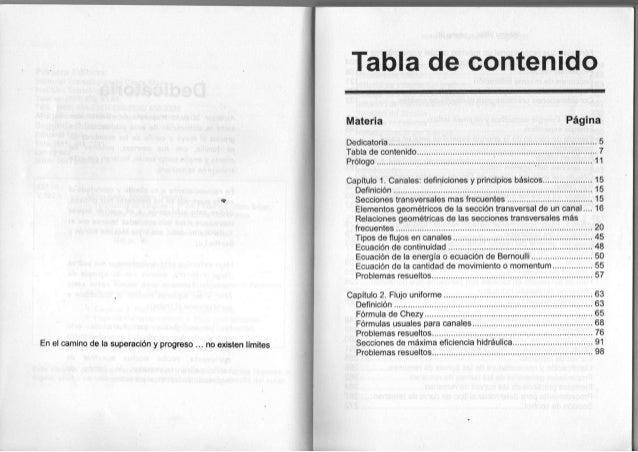 T a b l a d e c o n t e n i d o M a t e r i a Página Dedicatoria 5 T a b l a de contenido 7 Prólogo 1 1 Capítulo 1 . C a n...