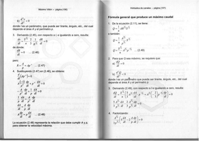 Máximo Villón — página ( 1 0 6 ) b ) ^ < 0 di2 d o n d e / e s u n parámetro, q u e p u e d e s e r t i r a n t e , ángulo...