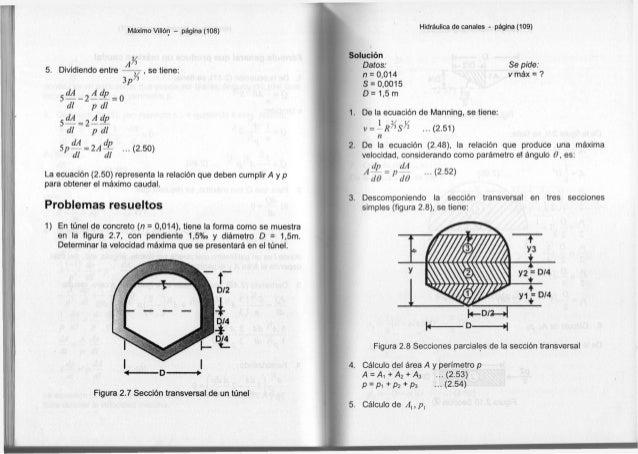 Máximo Villón - página (108) 5. Dividiendo entre 3 p 2 / i , se tiene: 5 ^ - 2 ^ = 0 d i p d i S— = 2 — — d l ~ p d i c dA...