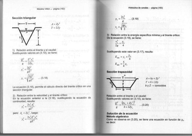 Libro de hidraulica de canales (maximo villon)