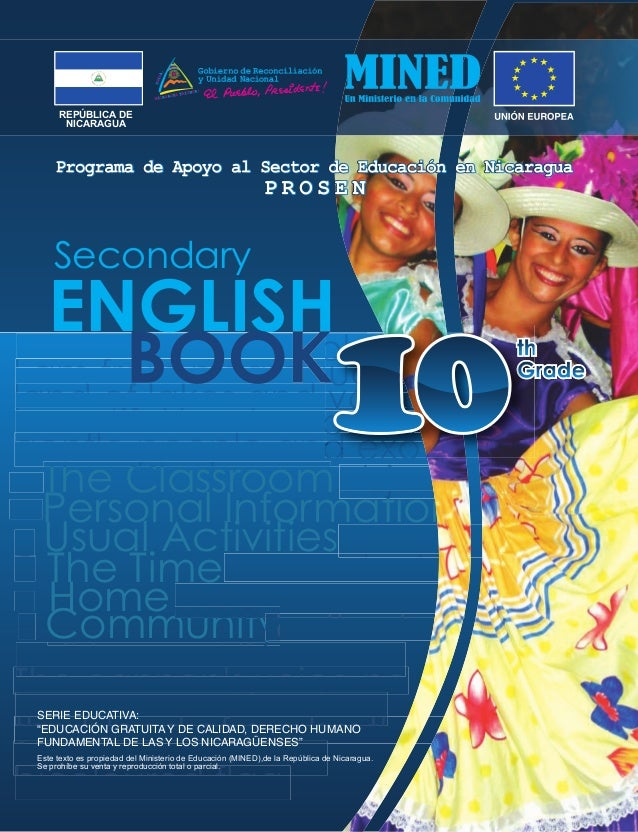ENGLISH The Classroom Personal Information Usual Activities The Time Home Community Hello my friends please I am from nica...