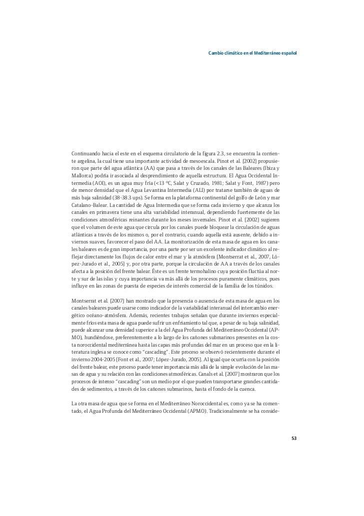 Libro del cambio clim tico en el mar mediterr neo espa ol for Cambios en el ministerio del interior
