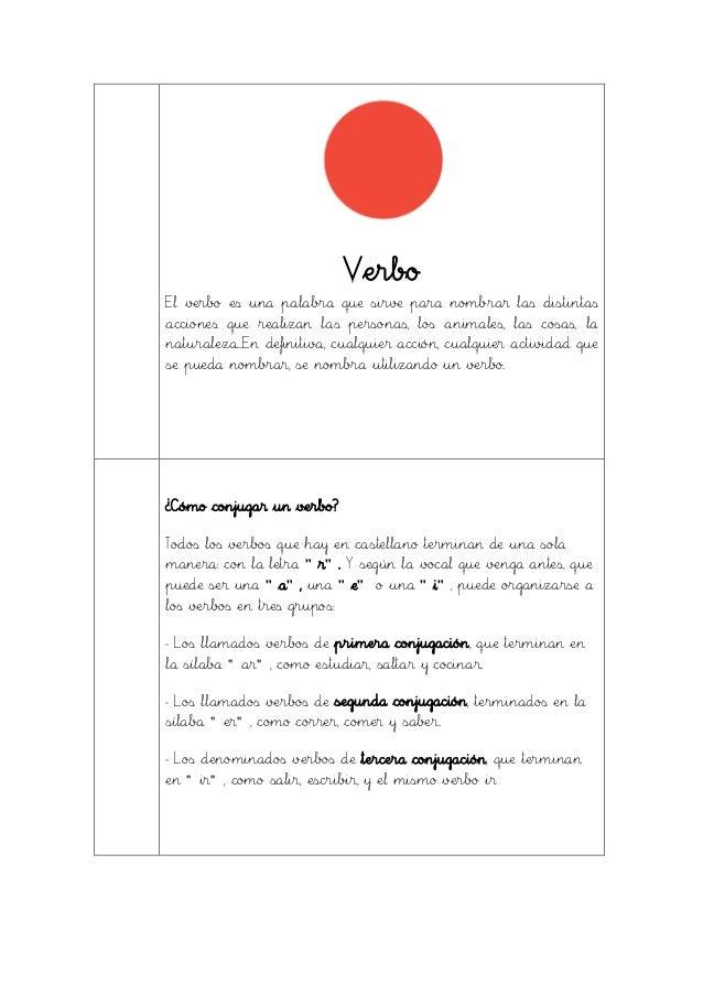 Verbo El verbo es una palabra que sirve para nombrar las distintas acciones que realizan las personas, los animales, las c...