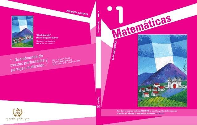 Libro de matematicas de 1o primero alumnos