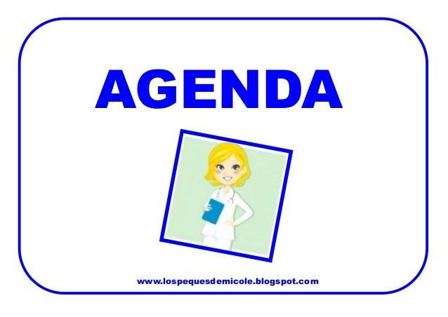 www.lospequesdemicole.blogspot.com  AGENDA