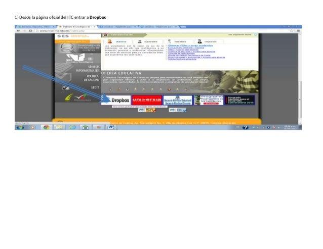 1) Desde la página oficial del ITC entrar a Dropbox