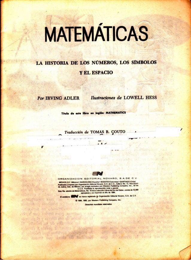 Libro de oro de matemticas constituyen una nuestras respuestas son las correctas ciencia que nos ensa a pensar de tratamos de pensar ordenada y cuida tenidamente en los fandeluxe Images