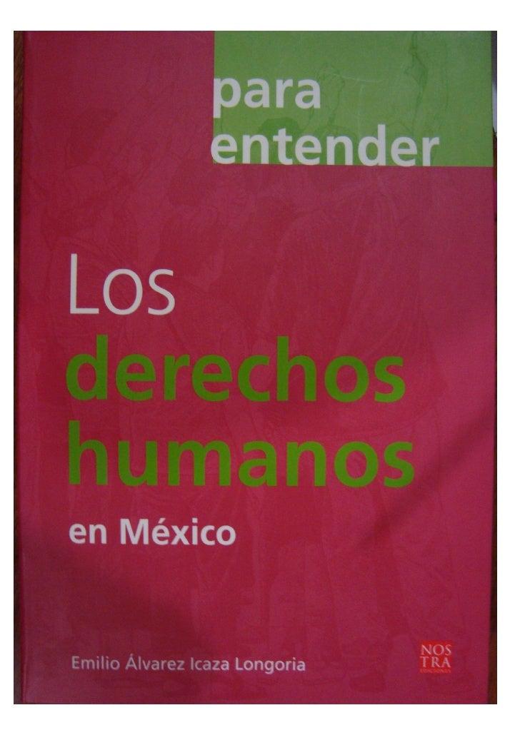 Libro Derechos Humanos De Emilio Alvarez  @tataya.com.mx