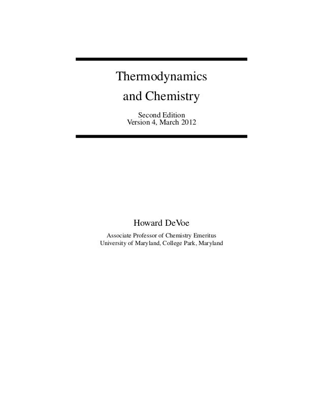 Thermodynamics and Chemistry 2ed-3 Devoe