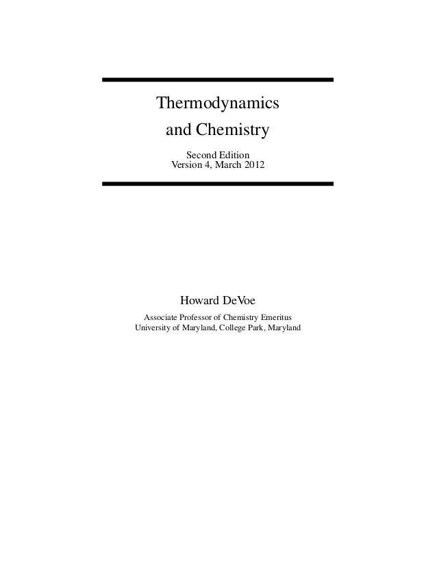 Thermodynamics and Chemistry 2ed-3 Devoe