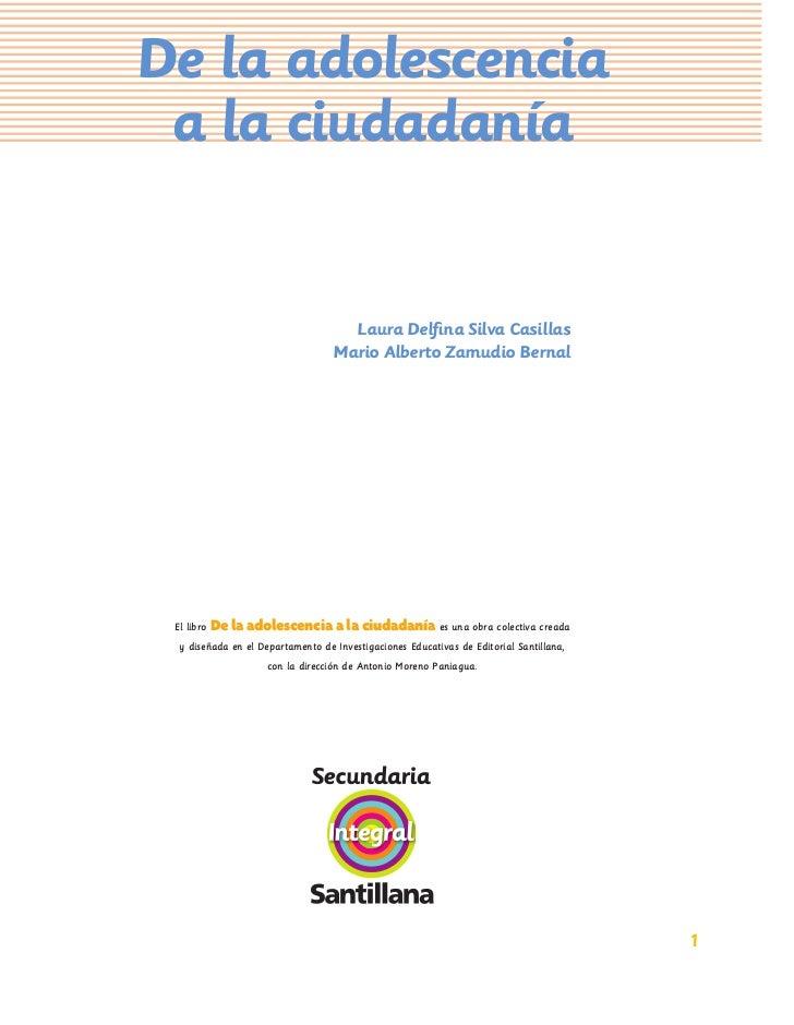 De la adolescencia a la ciudadanía                                     Laura Delfina Silva Casillas                        ...