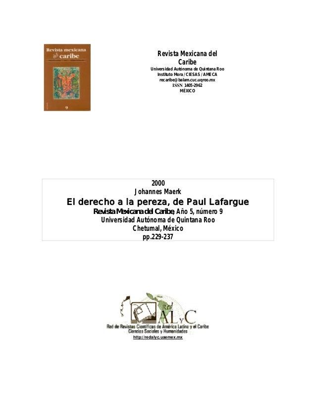 Revista Mexicana del Caribe Universidad Autónoma de Quintana Roo Instituto Mora / CIESAS / AMECA recaribe@balam.cuc.uqroo....