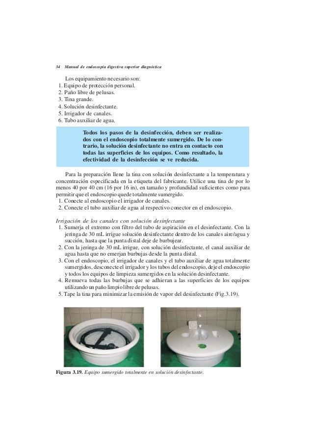 Manual de endoscopia digestiva superior diagn stica for Manual de limpieza y desinfeccion para una cocina