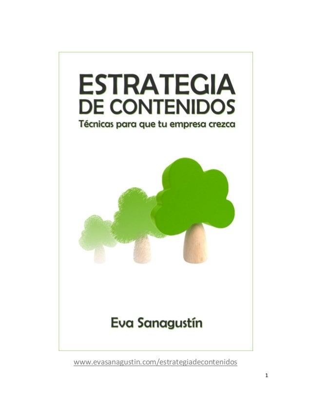 1 www.evasanagustin.com/estrategiadecontenidos