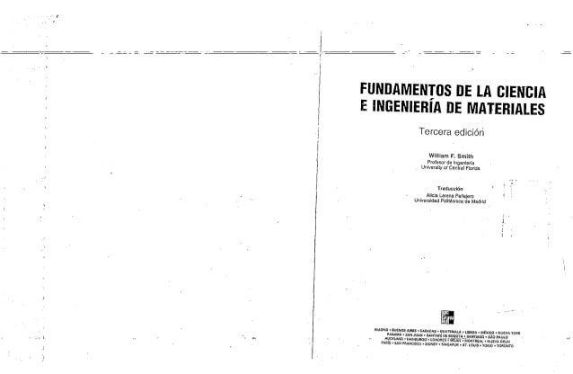 Libro fundamento de la ciencia e ingenieria de los materiales william smith