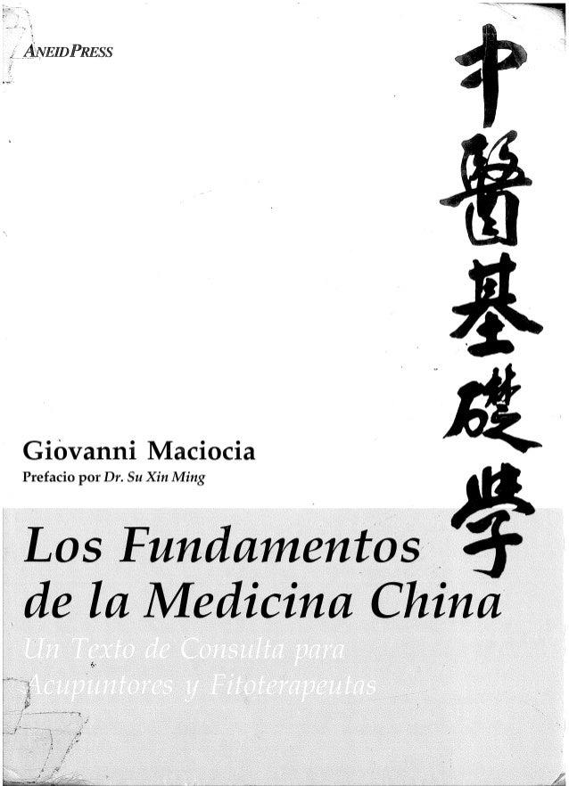 Giovanni Maciocia Prefacio por Dr. Su Xin Ming