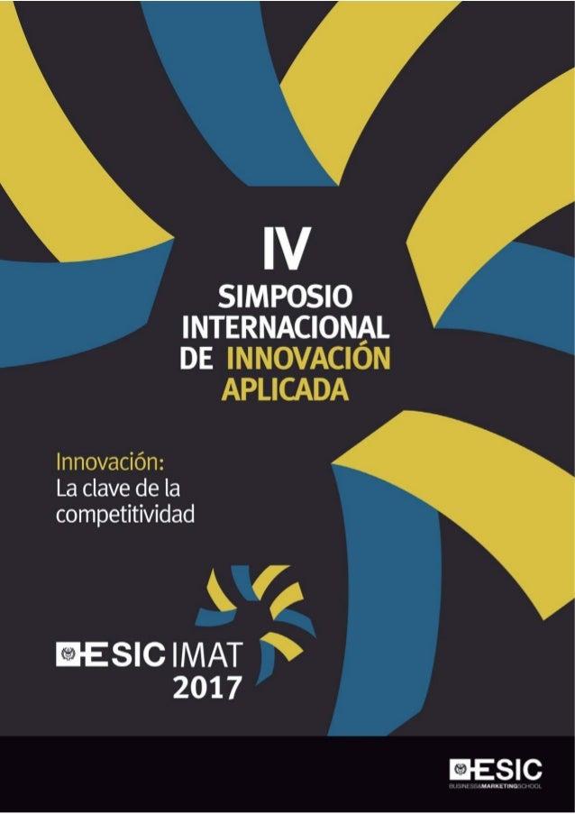 """""""Innovación: La clave de la competitividad"""" 28, 29 y 30 de junio de 2017 VALENCIA"""