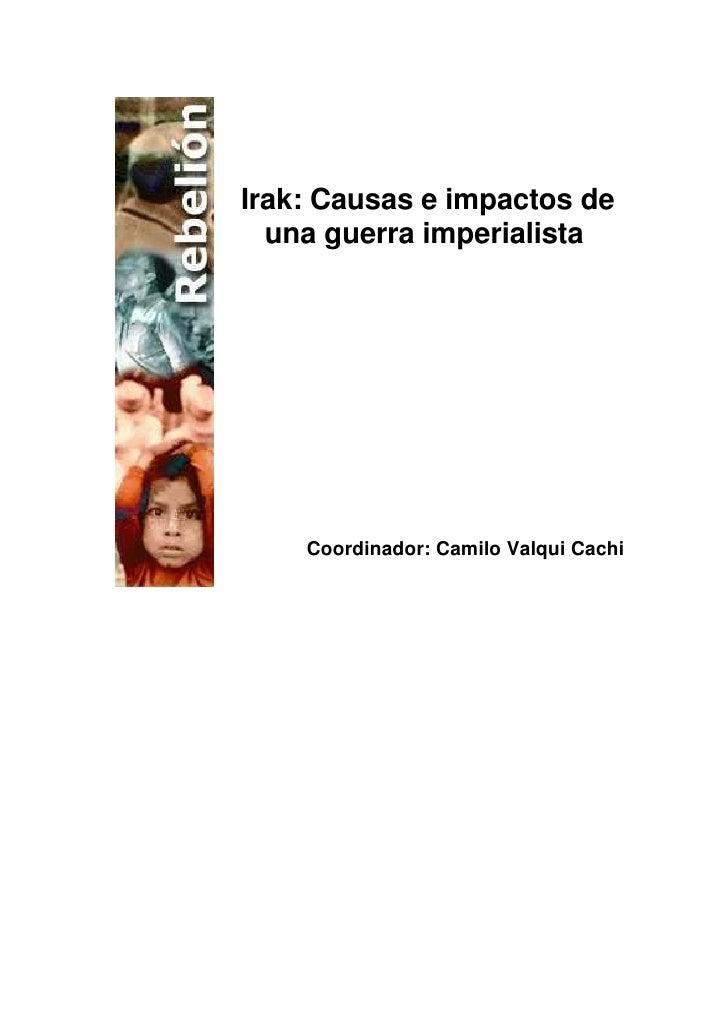 Irak: causas e impactos de una guerra imperialista