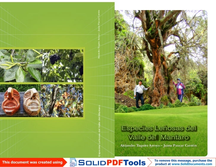 Especies Leñosas del Valle del Mantaro                                         Alejandro Taquire Arroyo – Juana Paucar Car...