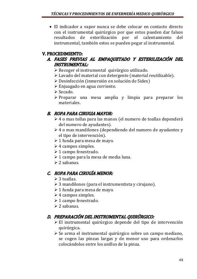 Tecnicas Y Procedimientos De Enfermeria Medico Quirurgico Autor Sa
