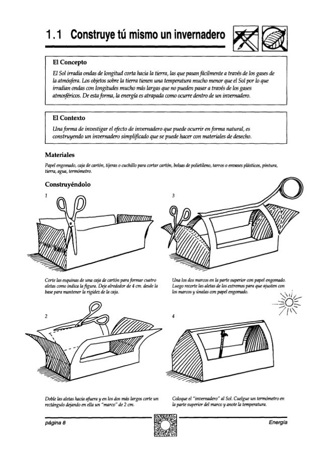 1.1 Construyetú mismouninvernadero El Concepto El Solirradia ondasdelongitud corta haciala tierra, lasquepasanfácilmente a...