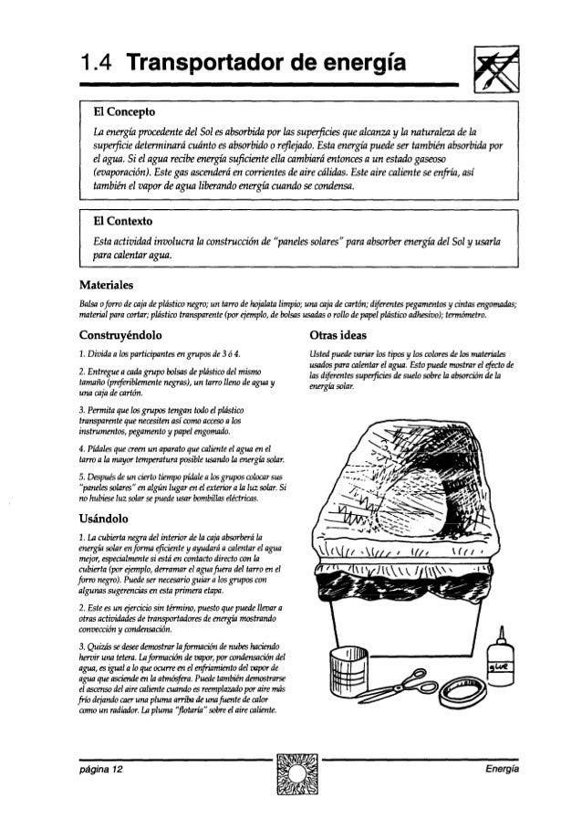1.4 Transportador de energía El Concepto La energíaproceakntedel Solesabsorbidapor las superjicies quealcanza y la natural...