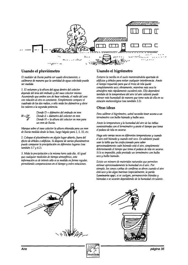 -- Usando el pluviómetro Usando el higrómetro El medidordelluzk podríaserusadodirectamente,o calibrarsedemaneraquela canti...