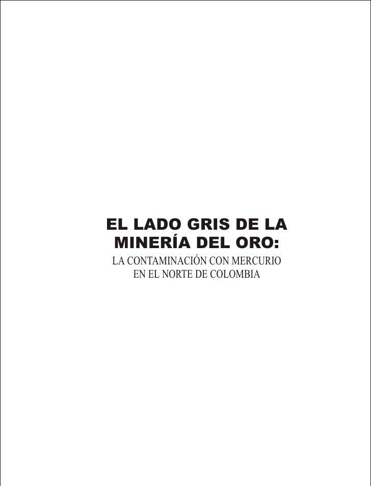 EL LADO GRIS DE LA MINERÍA DEL ORO:LA CONTAMINACIÓN CON MERCURIO    EN EL NORTE DE COLOMBIA