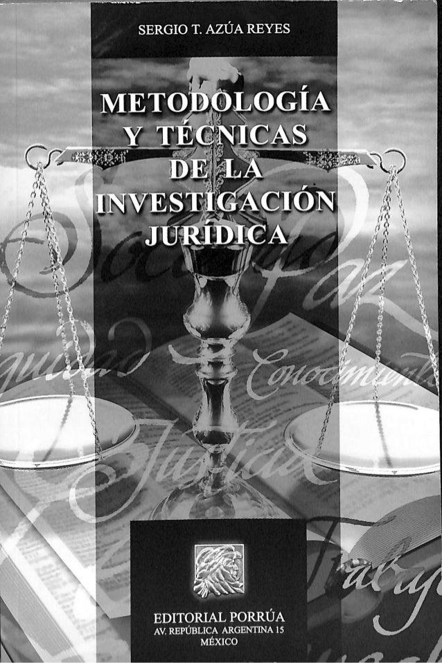 Libro metodologia y tecnicas de la investigacion juridica