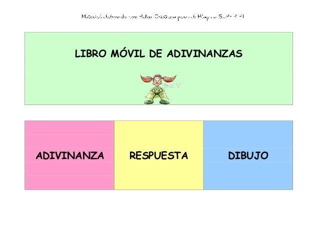 LIBRO MÓVIL DE ADIVINANZAS ADIVINANZA RESPUESTA DIBUJO