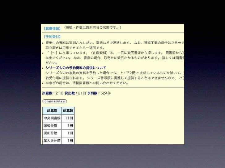 Libron & Libreq を使った図書館超活用術 Slide 3