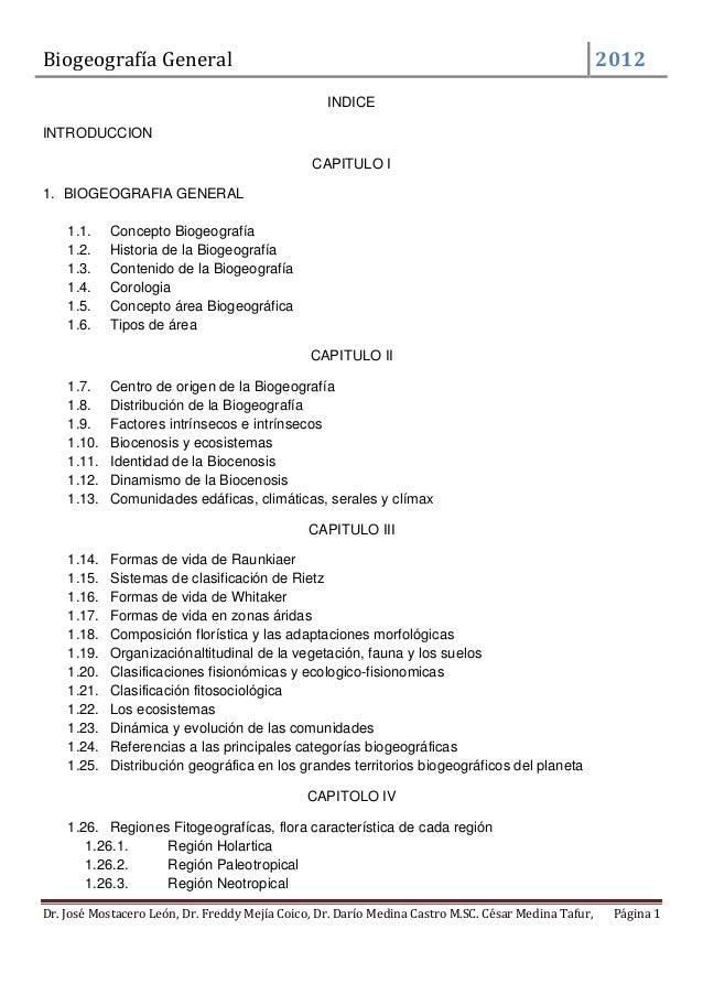 Biogeografía General                                                                                 2012                 ...