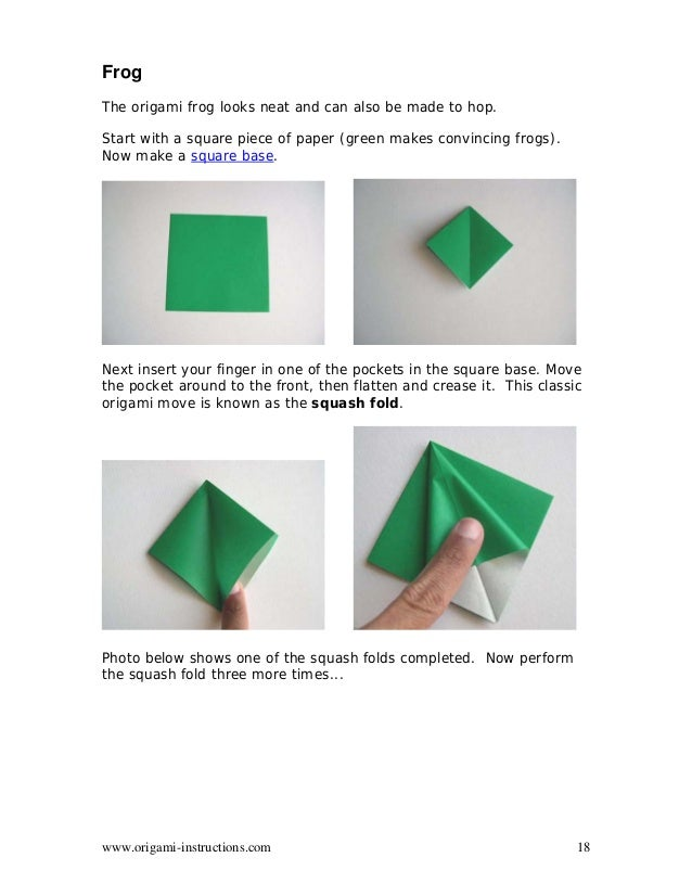 ORIGAMI) How to make a Frog Base - YouTube | 826x638