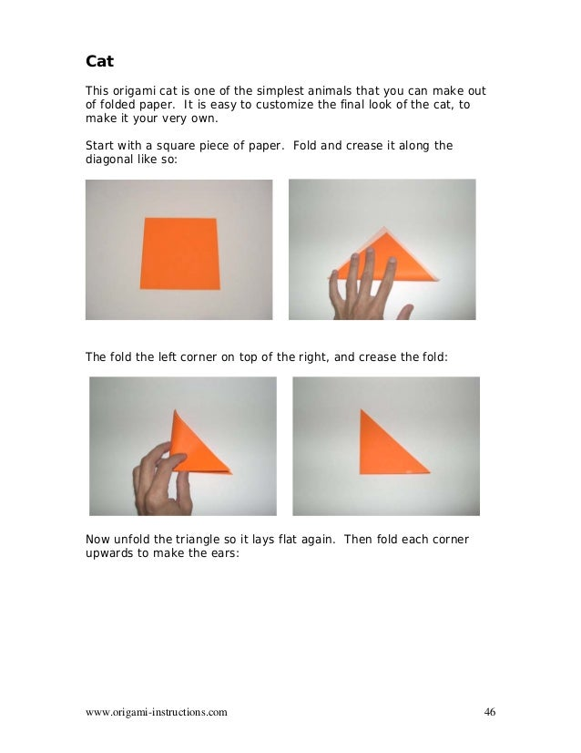 TM 46 Origami Instructions