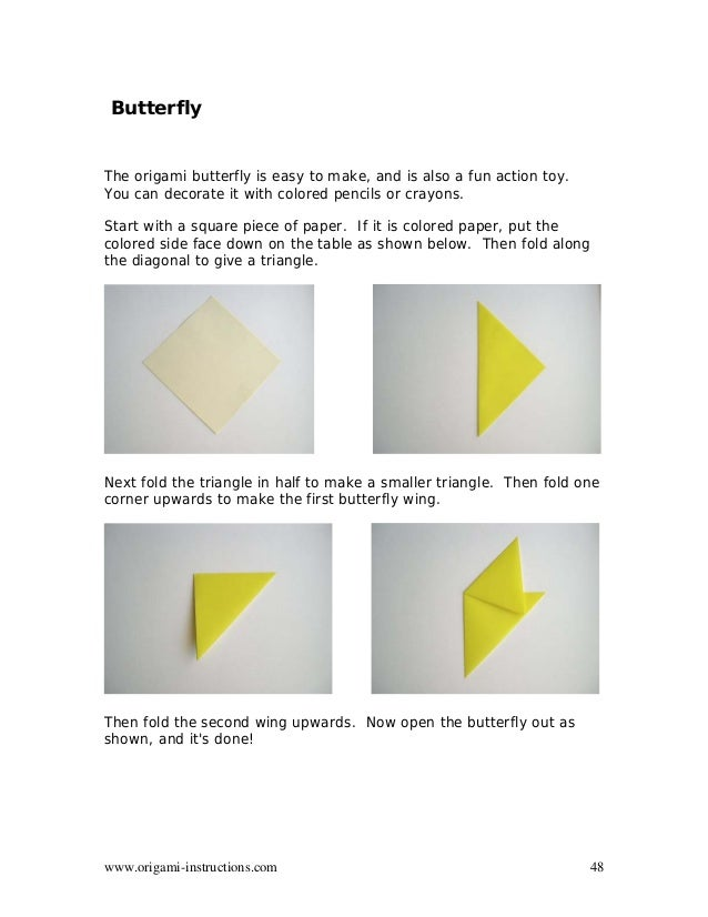 48 Origami Instructions Butterfly