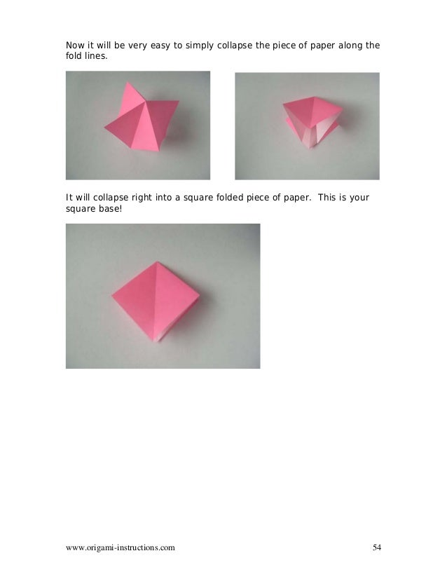 How to make a square-base in origami: page 1 | 826x638