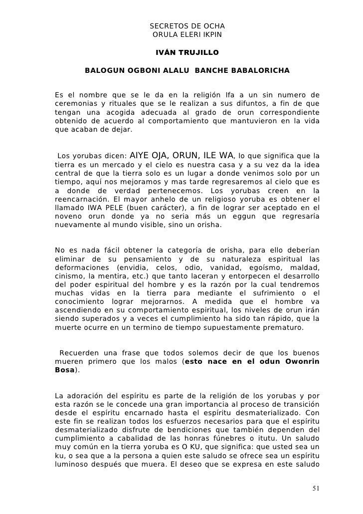 Libro Orunmila Eleri Ikpin