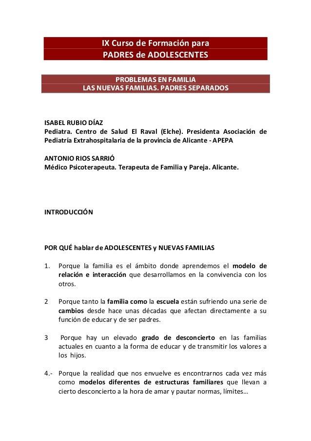 Libro ponentencias IX ESCUELA para PADRES de AOLESCENTES