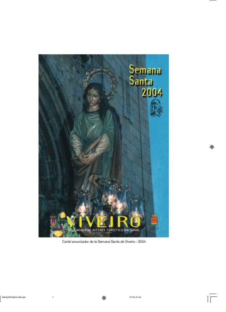 Cartel anunciador de la Semana Santa de Viveiro - 2004
