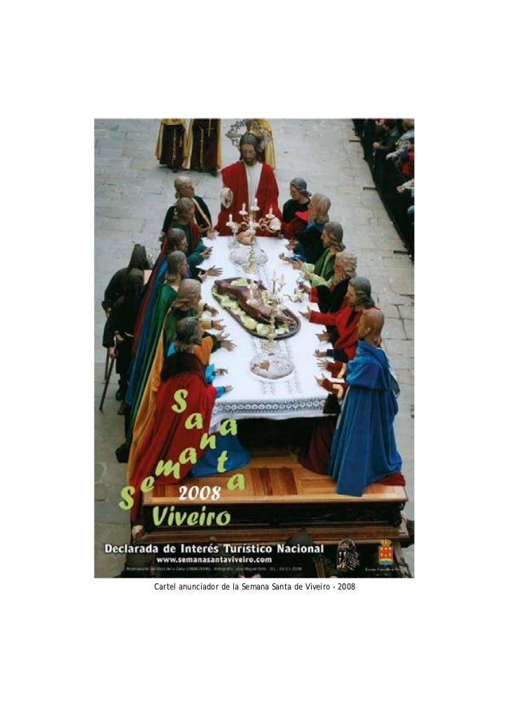Cartel anunciador de la Semana Santa de Viveiro - 2008