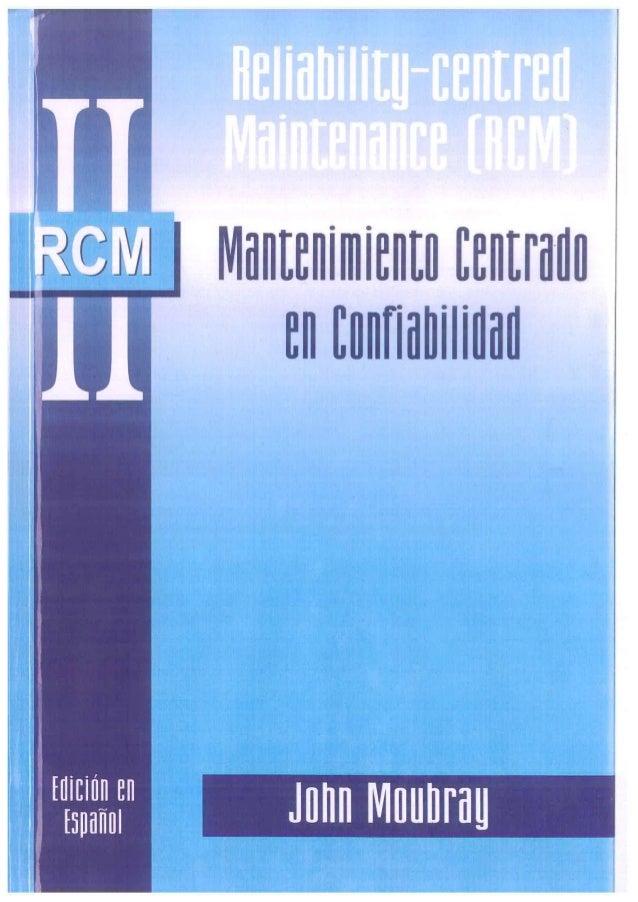 "Libro RCM de ""j. moubray"""