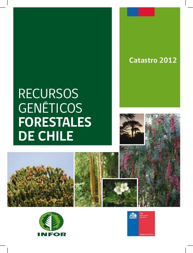 RECURSOSGENÉTICOSFORESTALESDE CHILECatastro 2012