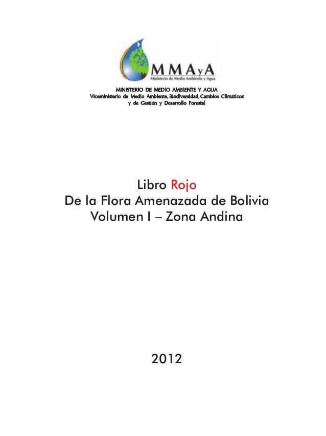 Ministerio de Medio Ambiente y Agua Viceministerio de Medio Ambiente, Biodiversidad, Cambios Climaticos y de Gestion y Des...