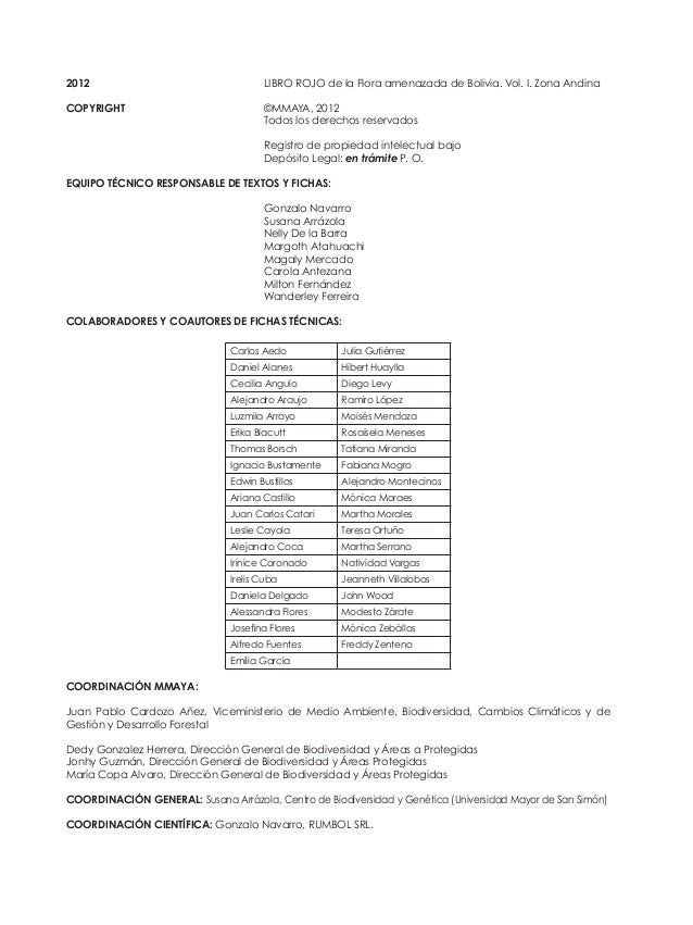 COMITÉ EDITOR: Gonzalo Navarro, Susana Arrázola, Margoth Atahuachi, Nelly De la Barra, Magaly Mercado y Wanderley Ferreira...