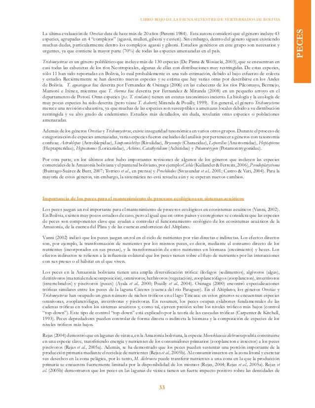 Libro Rojo de la Fauna Silvestre de Vertebrados de Bolivia