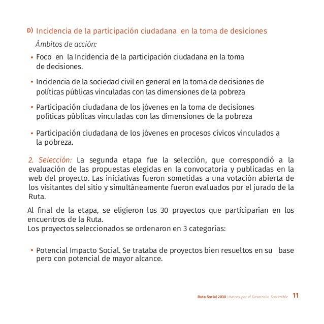 11Ruta Social 2030 Jóvenes por el Desarrollo Sostenible Foco en la Incidencia de la participación ciudadana en la toma de ...